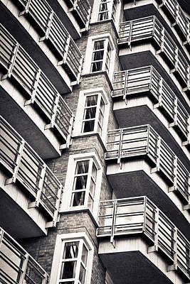 Bachelor Pad Photograph - Balconies by Tom Gowanlock