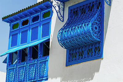 Sidi Bou Said Photograph - Balcony And Window, Sidi Bou Said by Nico Tondini