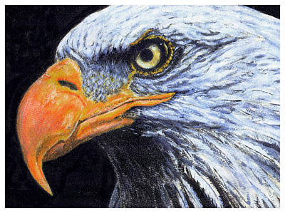 Art Print featuring the digital art Bald Eagle by David Blank