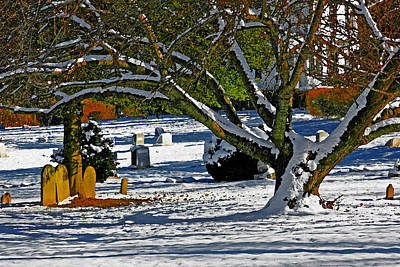 Baldwin Memorial United Methodist Church Cemetery Art Print