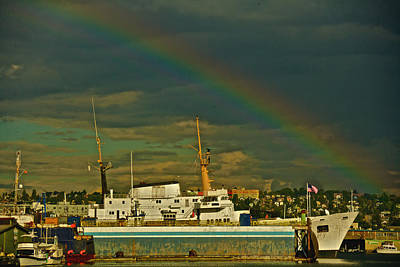 Photograph - Ballard Rainbow by Steven Lapkin