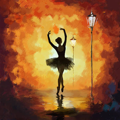 Ballet Dancers Painting - Ballet Dancer by Corporate Art Task Force
