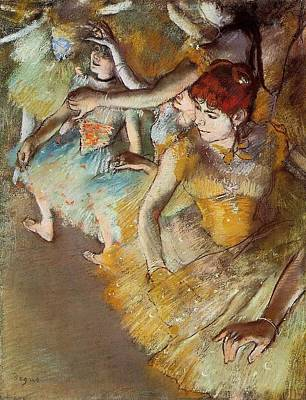 Ballet Dancers On The Stage Art Print by Edgar Degas