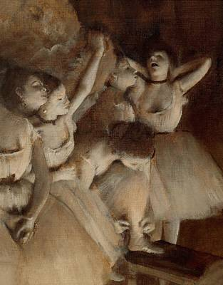 Fixing Painting - Ballet Rehearsal On Stage by Edgar Degas