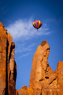 Photograph - Balloon In Monument Valley by Brian Jannsen