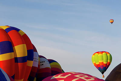 Fiesta Photograph - Balloons Lifting For The Mass Ascension by Maresa Pryor