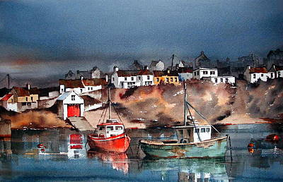 Ballycotton Harbour East Cork Art Print