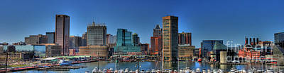 Baltimore Inner Harbor Photograph - Baltimore Inner Harbor by Baltzgar