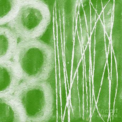 Shower Painting - Bamboo by Linda Woods