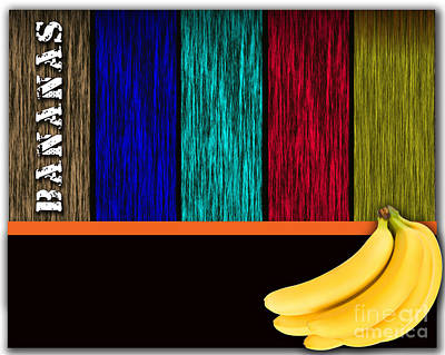 Banana Mixed Media - Bananas by Marvin Blaine
