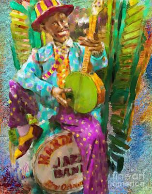 Painting - Banjo by Jack Milchanowski