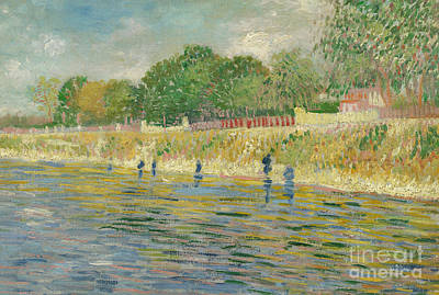 Pointillist Painting - Bank Of The Seine by Vincent van Gogh