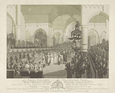 Baptism Drawing - Baptism Of Prince Alexander, Prince Of Orange by Litz Collection