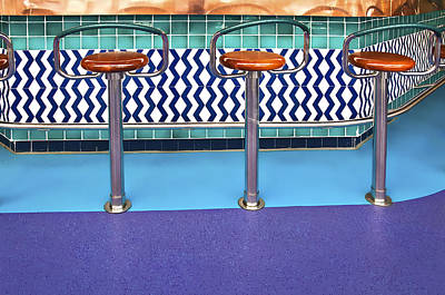 Photograph - Bar Stools by Maria Coulson
