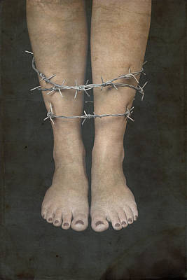 Bare Feet Photograph - Barbed Wire by Joana Kruse