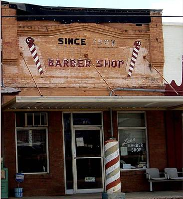 Busines Drawing - Barber Shop Since 1902 by De Beall