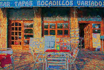 Barcelona Digital Art - Barcelona Cafe by Yury Malkov