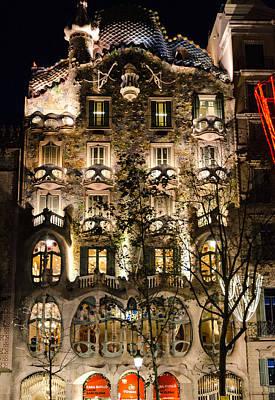Photograph - Barcelona - Casa Batllo by Andrea Mazzocchetti