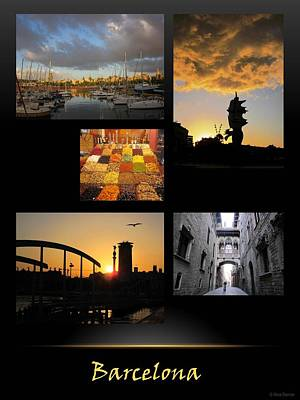 Photograph - Barcelona Poster 2 by Nina Donner