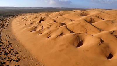 Sahara Photograph - Barchan Dunes by Thierry Berrod, Mona Lisa Production