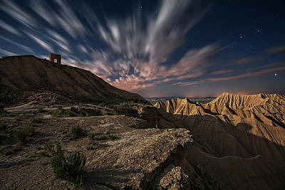 Arch Photograph - Bardenas Night by Martin Zalba