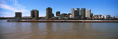 Louisiana Photograph - Barge In The Mississippi River, New by Panoramic Images