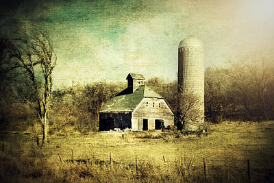 Rural Art Digital Art - Barn And Silo by Julie Hamilton