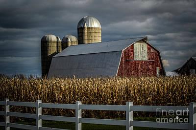 Photograph - Barn And Silos by Ronald Grogan