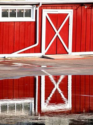 Jerry Sodorff Royalty-Free and Rights-Managed Images - Barn Door Reflection 5023 by Jerry Sodorff