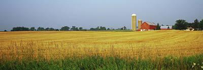 Barn In A Field, Wisconsin, Usa Art Print