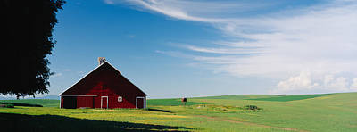 Barn In A Wheat Field, Washington Art Print by Panoramic Images