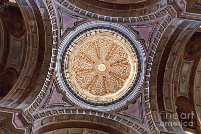 Palace Photograph - Baroque Church Cupola Dome by Jose Elias - Sofia Pereira