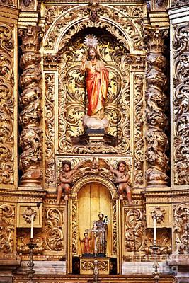 Jesus Christ Photograph - Baroque Gilded Altar by Jose Elias - Sofia Pereira