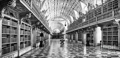 Palace Photograph - Baroque Library  by Jose Elias - Sofia Pereira
