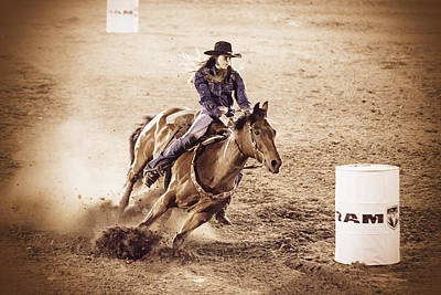 Photograph - Barrel Racing by Caitlyn  Grasso