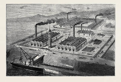 Barrow In Furness Wall Art - Drawing - Barrow-in-furness Its History And Its Industries by English School