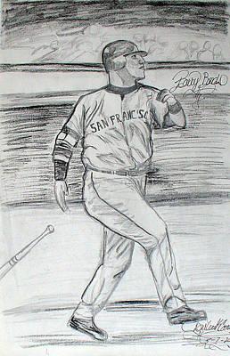 Barry Bonds Drawing - Barry Bonds by Darlene Ricks- Parker