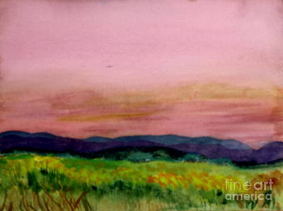Barton Painting - Barton Sunset by Donna Walsh