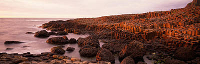 Giants Causeway Photograph - Basalt Columns Of Giants Causeway by Panoramic Images