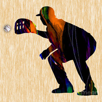 Baseball Catcher Art Print