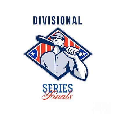 Baseball Divisional Series Finals Retro Art Print