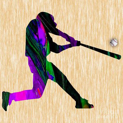 Mixed Media - Baseball by Marvin Blaine