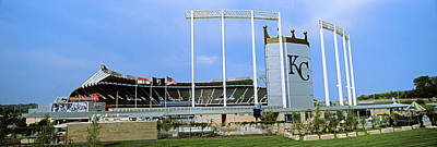 Midwest Photograph - Baseball Stadium In A City, Kauffman by Panoramic Images