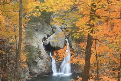 Bash Bish Falls Photograph - Bash Bish Falls Fall Foliage by John Burk