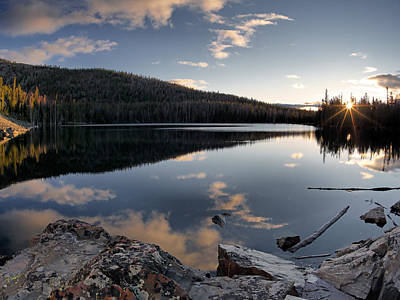 Photograph - Basin Lake Sunrise 2 by Leland D Howard