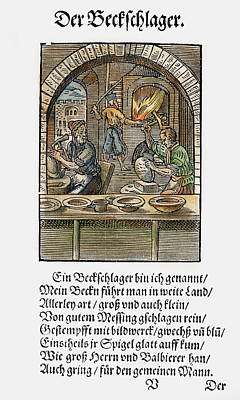 Furnace Painting - Basin Makers, 1568 by Granger
