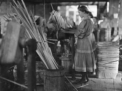 Basket Factory, 1908 Art Print by Granger