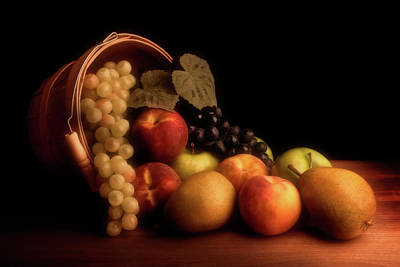 Cornucopia Photograph - Basket Of Fruit by Tom Mc Nemar