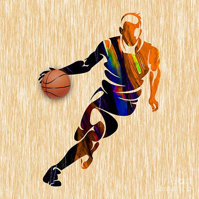 Basketball Mixed Media - Basketball by Marvin Blaine