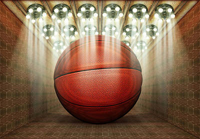 Digital Art - Basketball Museum by James Larkin